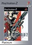 Carátula o portada Europea (Platinum) del juego Metal Gear Solid 2: Sons of Liberty para PlayStation 2